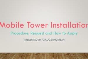 mobile tower installation procedure