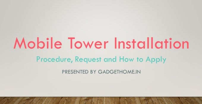 mobile tower installation procedure